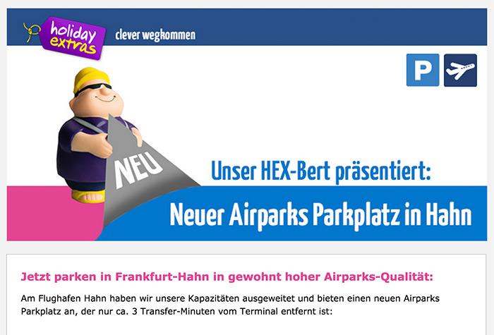 Airparks Parkplatz Hahn