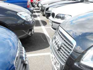 Car parking at Manchester airport