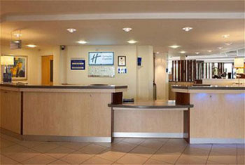 The reception at the Holiday Inn Express Cardiff airport