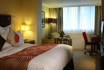 A bedroom at the Marriott Edinburgh airport