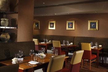 The restaurant at the Marriott Edinburgh airport