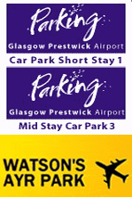 Prestwick Airport Parking Logos