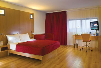Bedrooms at the Ramada Encore