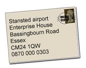 Stansted airport address