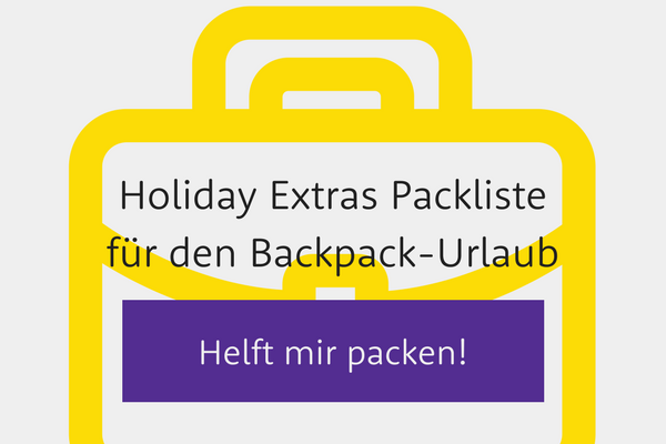 Holiday Extras Packliste