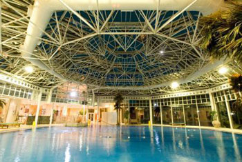The swimming pool at the Hilton Birmingham airport