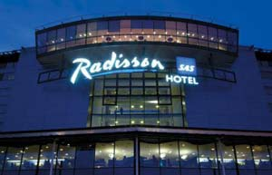 The Radisson SAS airport hotel is connected to the terminal